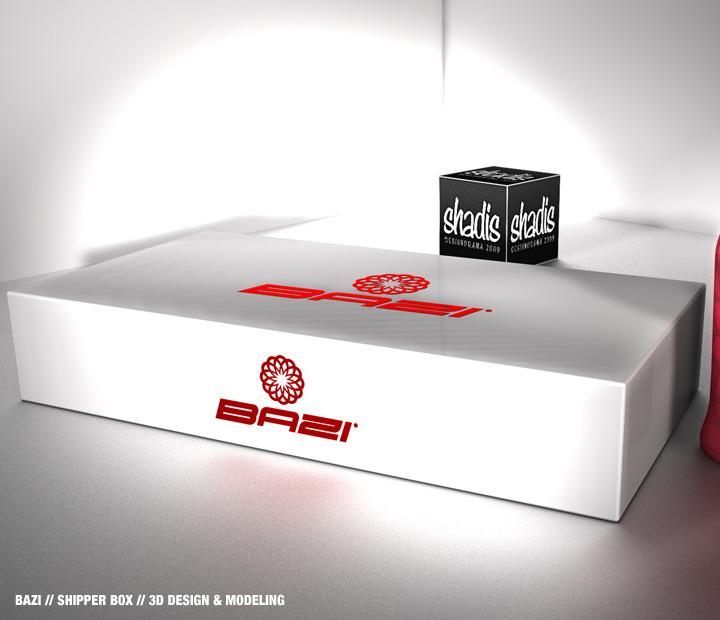 Clean creative 3d design bazi shipper box for Bat box obi